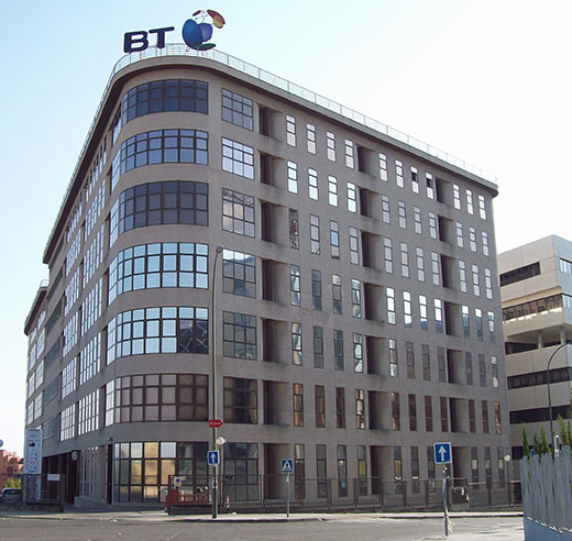 british telecom bt past window tinting client